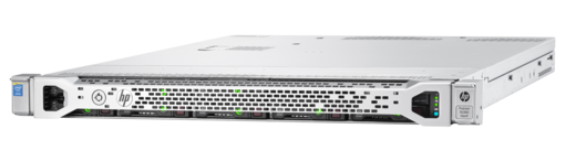 HPE ProLiant DL360 Gen9 rack server with one Intel® Xeon® E5-2620 v4 processor, 16 GB memory, and one 500W power supply
