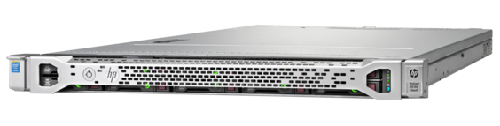 HPE ProLiant DL160 Gen9 rack server with one Intel® Xeon® E5-2609 v4 processor, 8 GB memory, four large form factor drive bays, and 550W power supply