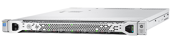HPE ProLiant DL360 Gen9 rack server with one Intel Xeon E5-2690 v4 processor, 32 GB memory, and two 800W redundant power supplies