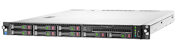 HPE ProLiant DL120 Gen9 configure-to-order rack server with eight DIMM slots and eight small form factor drive bays